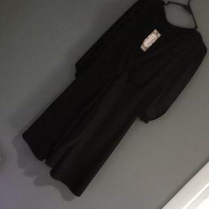 Boohoo little black dress balloon sleeves